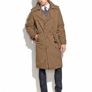 London Townes Trench coat 38R NWOT w/thin insulate